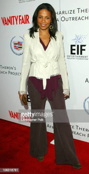 Sanaa Lathan during Vanity Fair Amped for Africa Arrivals and Inside at Republic in Hollywood California United States