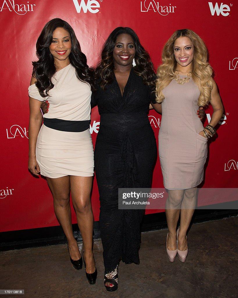 Sanaa Lathan Kim Kimble And Melissa De Sousa Attend The L A Hair Season