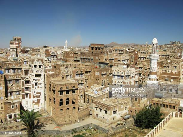 sanaa old city, yemenia - sanaa stock pictures, royalty-free photos & images