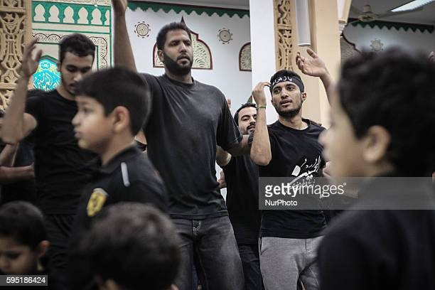 Sanabis, Bahrain - Ritual of Shia Muslims beating chest in anniversary Fatima az-Zahra'a of death of Fatima Shia maintain that Fatima died as a...