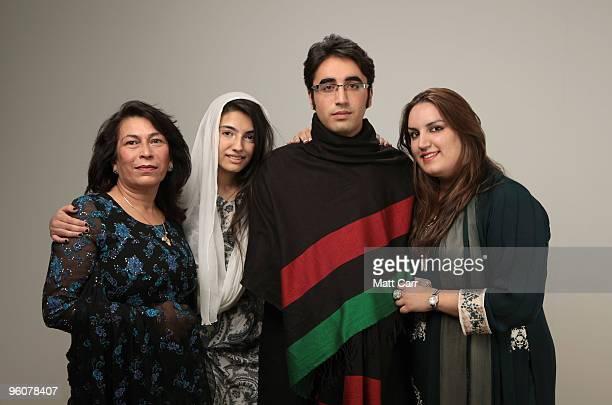 Sanam Bhutto Aseefa Bhutto Zardari Bilawal Bhutto Zardari and Bakhtawar Bhutto Zardari pose for a portrait during the 2010 Sundance Film Festival...
