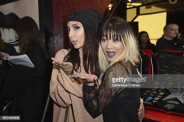 Sananas and General manager and vice president of Kat Von D Beauty MaiLy Kopatsy attends the Kat Von D Beauty opening weekend with influencers at...