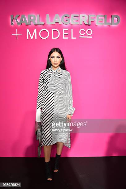 Sananas attends Karl Lagerfeld Modelco Make Up Line Launch cocktail party at Hotel D'Evreux on May 15 2018 in Paris France
