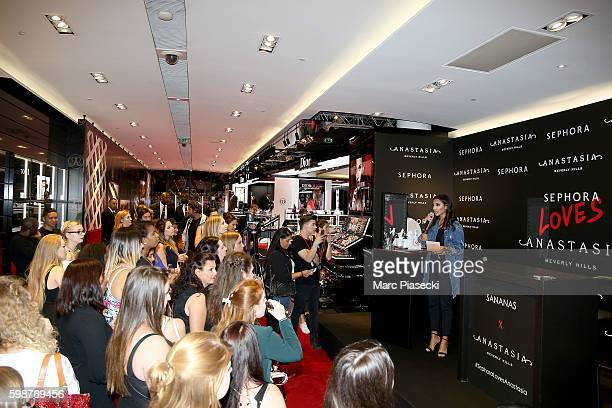 Sananas attends the Anastasia Beverly Hills Launches Beauty Line Exclusively at Sephora ChampsElysees on September 2 2016 in Paris France