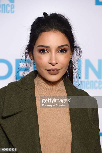 Sananas attends the 'Demain Tout Commence' Paris Premiere at Le Grand Rex on November 28 2016 in Paris France