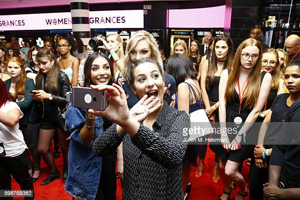 Sananas Sandrea and Horia attend the Anastasia Beverly Hills Launches Beauty Line Exclusively at Sephora ChampsElysees on September 2 2016 in Paris...