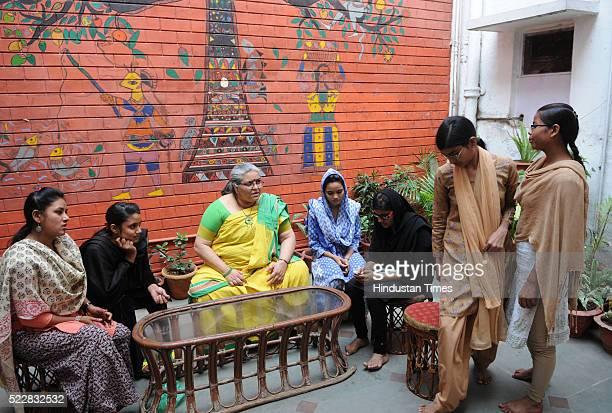 Sanatkada Trainers with social activist Madhavi Kukreja who has worked on empowering underprivileged Dalit and Muslim women in Uttar Pradesh on...