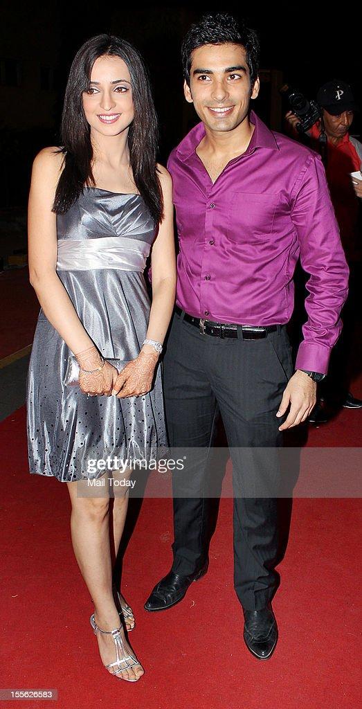 Sanaya Irani with Mohit Sehgal during Indian Television Academy Awards 2012 (ITA Awards), held in Mumbai on November 4, 2012.