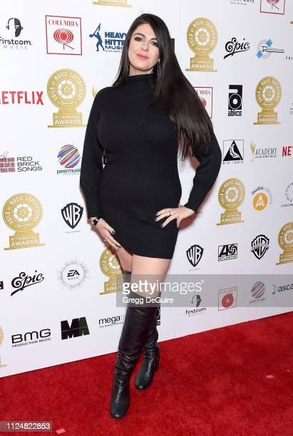 Sanaz Lavaedian attends the 9th Annual Guild Of Music Supervisors Awards at The Theatre at Ace Hotel on February 13 2019 in Los Angeles California
