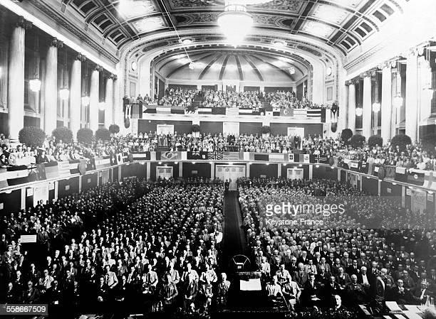 Séance inaugurale du Congrès international des membres du Rotary Club Grand Hall of the Viennese concert hall le 26 juin 1931 à Vienne Autriche