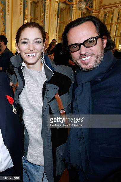 Sanchez de Betak and her husband Alexandre de Betak attend Alber Elbaz receives the Insigna of 'Officier de la Legion d'Honneur' at Ministere de la...