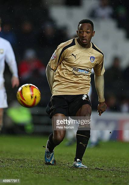Sanchez Watt of Colchester United in action during the Sky Bet League One match between Milton Keynes Dons and Colchester United at Stadium MK on...