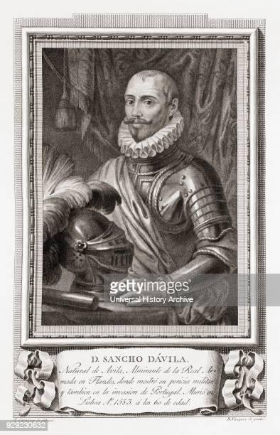 Sancho d'Avila 1523 – 1583 Spanish General After an etching in Retratos de Los Españoles Ilustres published Madrid 1791