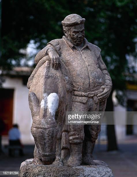 Sancho Panza Character in the novel Don Quixote by Miguel de Cervantes Statue Malagon Spain