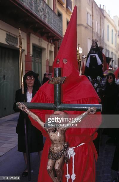 Sanch's procession In Perpignan, France On April 14,1995.