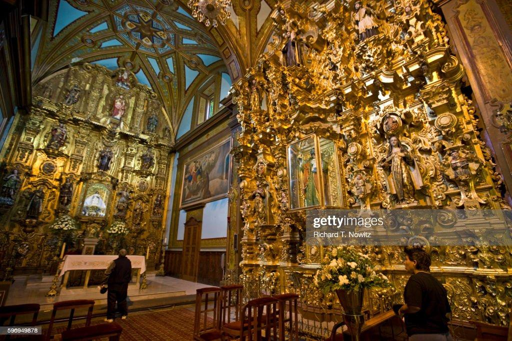 Sanctuary In Templo De Nuestra Senora De Aranzazu Stock Photo