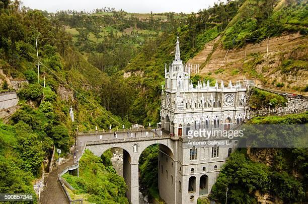 "sanctuary ""las lajas"". ipiales. colombia - nariño department stock photos and pictures"