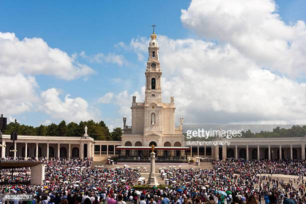 sanctuary of fatima located in portugal - fatima stock pictures, royalty-free photos & images