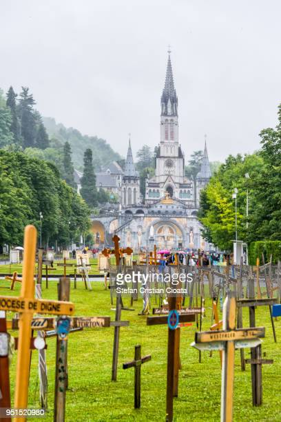 sanctuary of our lady of lourdes, france - our lady of lourdes stock pictures, royalty-free photos & images