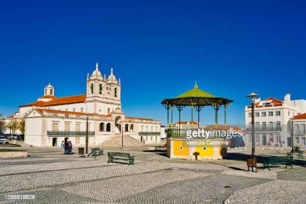 sanctuary of our lady of nazaré in portugal - leiria photos et images de collection