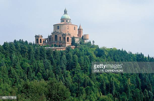 Sanctuary of the Madonna of San Luca 12th18th century designed by the architect Carlo Francesco Dotti Colle della Guardia Bologna EmiliaRomagna Italy