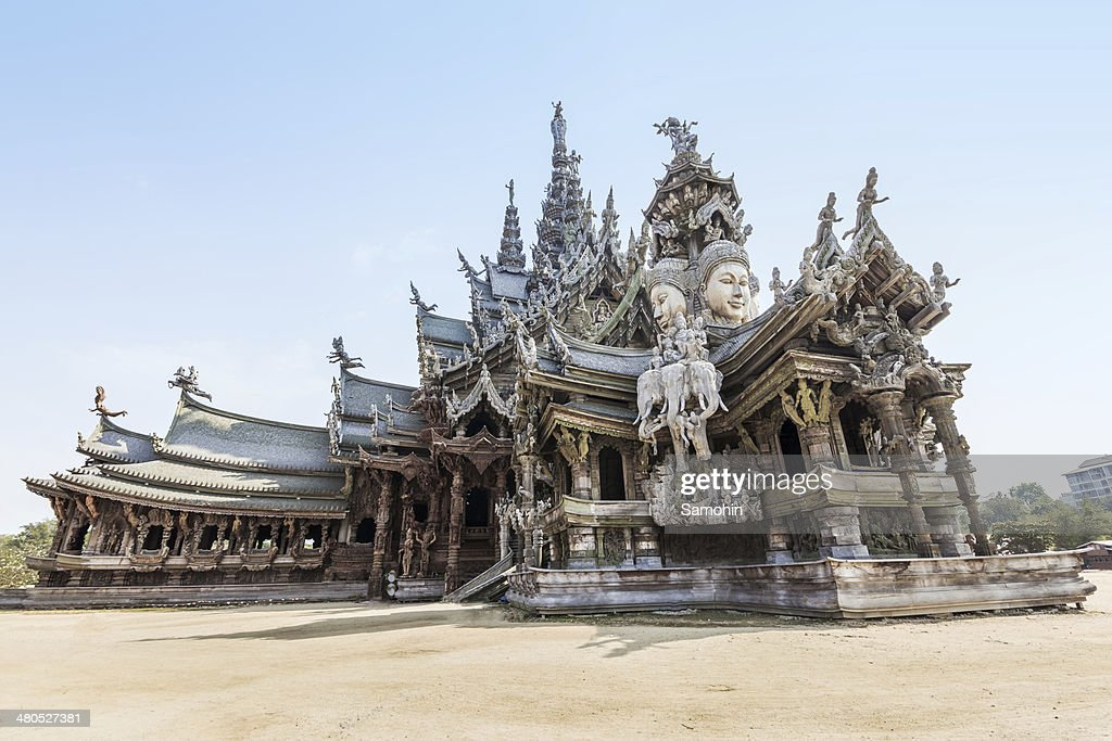 Sanctuary of Truth in Pattaya, Thailand : Stock Photo