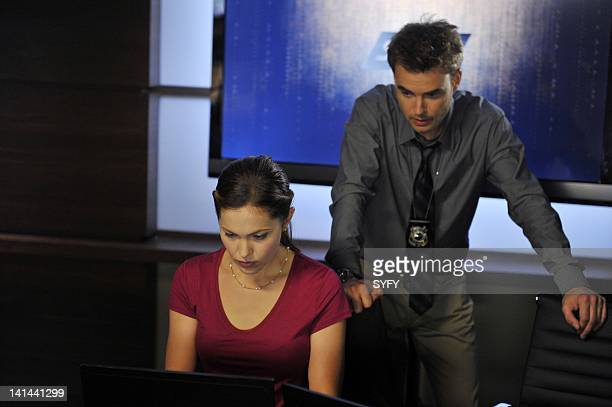 SANCTUARY Sancturary for None Part 1 Episode 412 Pictured Pascale Hutton as Abby Corrigan Robin Dunne as Dr Will Zimmerman Photo by Chris...