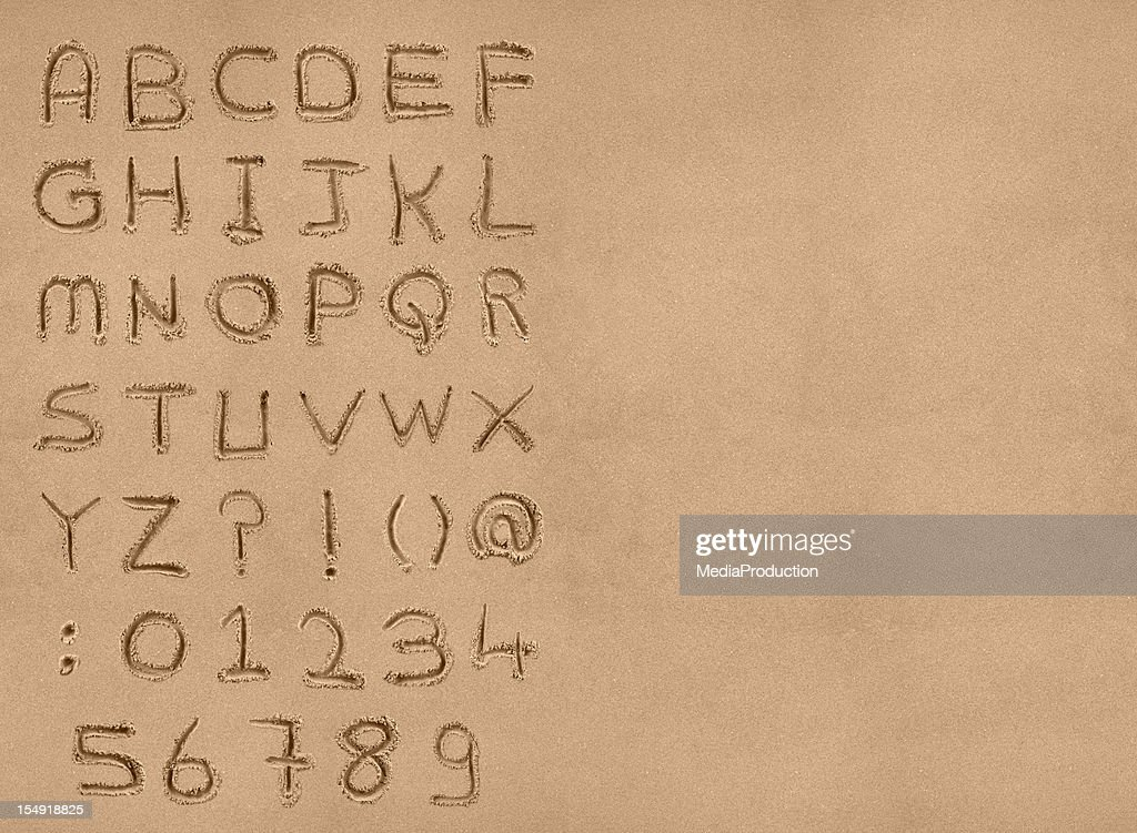 Sand Alphabet Mit clipping path : Stock-Foto