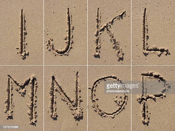 sand alphabet xxxl - letter p stock pictures, royalty-free photos & images