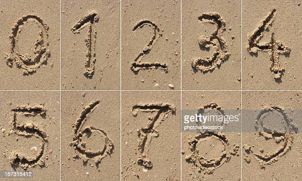 sand alphabet xxxl - number 9 stock pictures, royalty-free photos & images