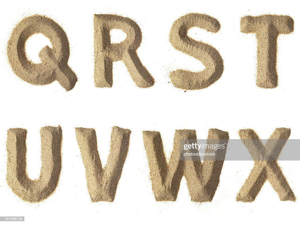 Sand Alphabet XXXL : Stock Photo