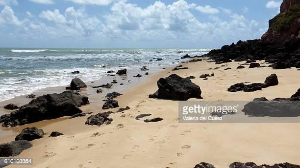 Sand and rocks on Madero Beach