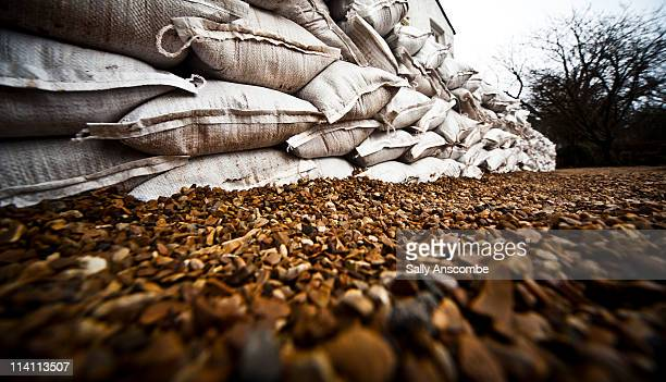 sand bags - sandbag stock pictures, royalty-free photos & images
