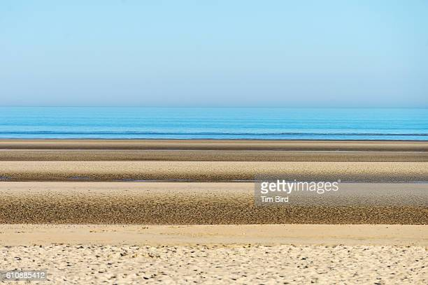 Sand banks at Camber Sands at low tide