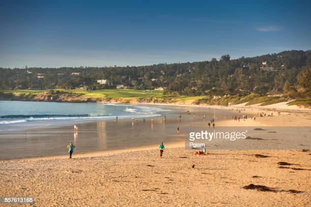 カーメル カリフォルニア州モントレーの近くの太平洋の海岸に砂のビーチ