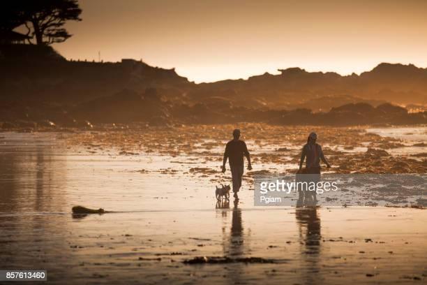 Sandstrand an der Pazifik-Küste in Carmel, Kalifornien in der Nähe von Monterey
