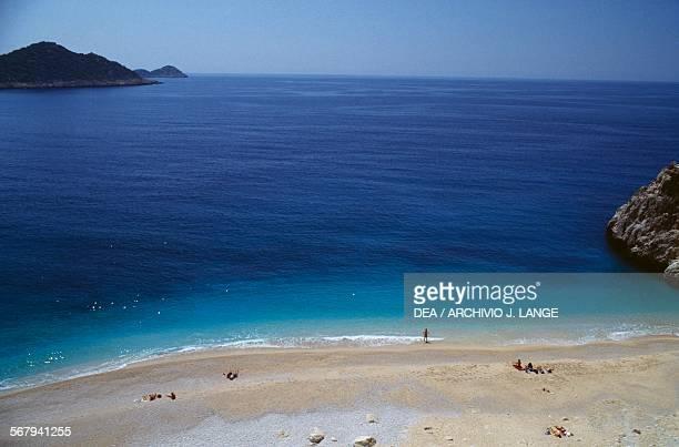 Sand beach near Kas, Antalya Province, Turkey.