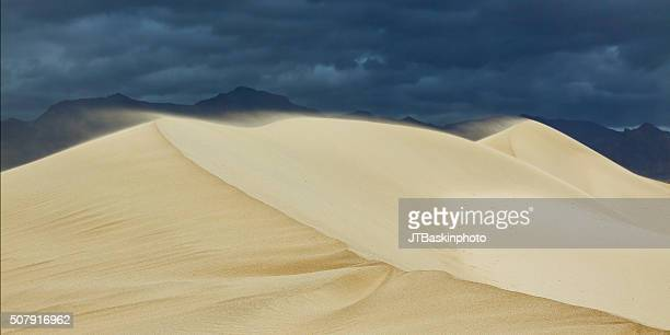 Sand Blowing Across Mesquite Flat Dunes in Death Valley