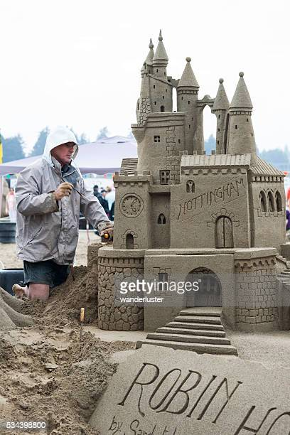 Sand castle competition in Canada