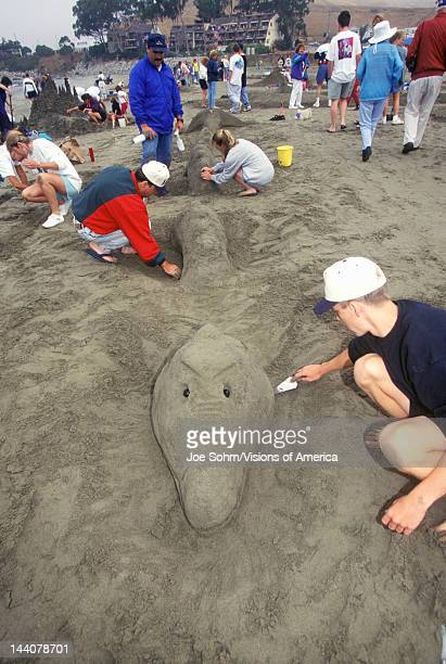 Sand Castle Sculpting Contest, Cayucos, California