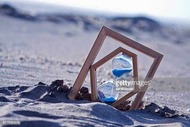 Sand Clock with blue sand