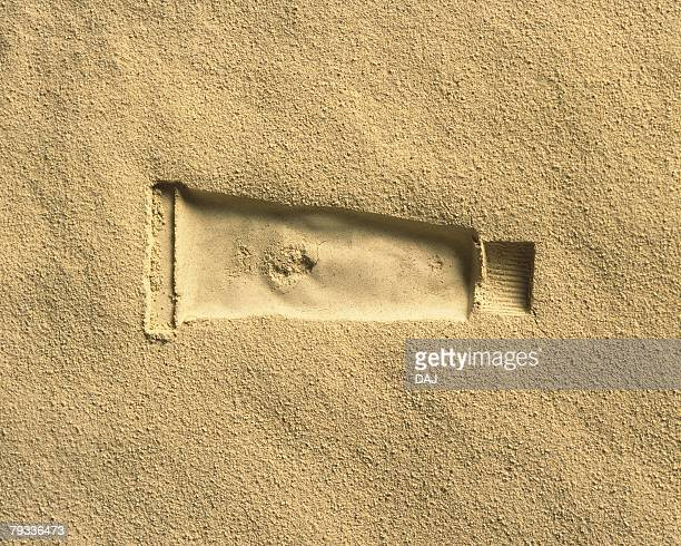 Sand Craft of Paint Tube, High Angle View