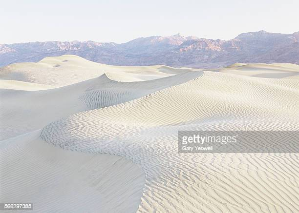 Sand dune formations at sunrise