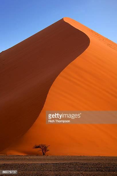 sand dune in sossusvlei , sesriem , namib desert , namibia - sossusvlei stockfoto's en -beelden