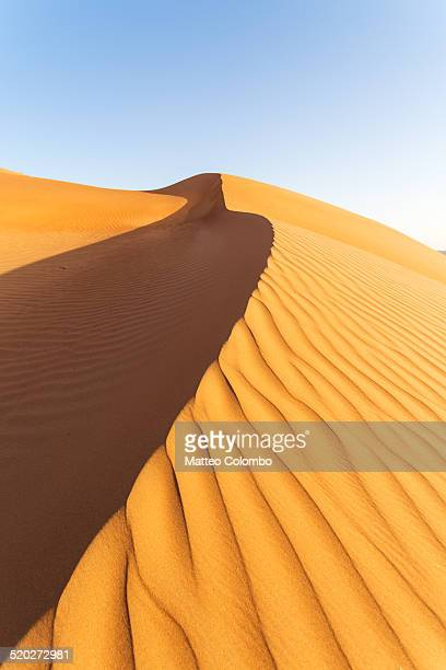 Sand dune in the desert of Wahiba sands, Oman