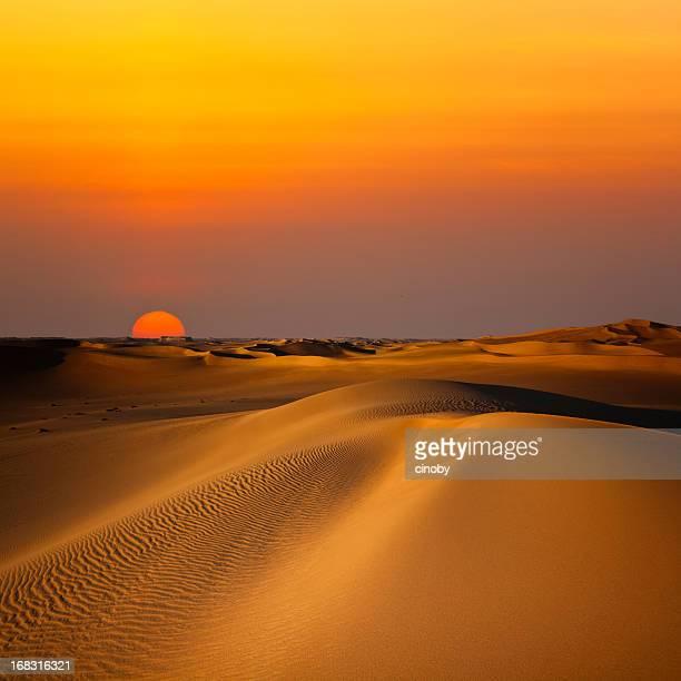 duna de areia, ao pôr-do-sol - egito - fotografias e filmes do acervo