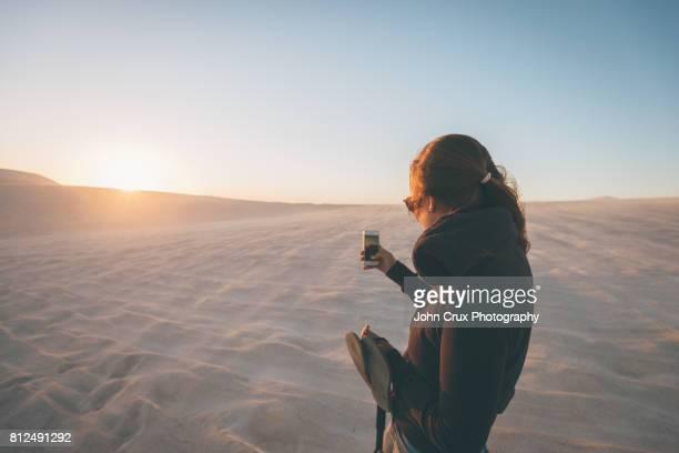 sand dune tourist