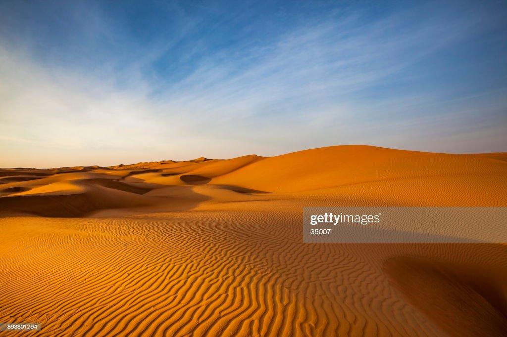 paisaje del desierto duna onda patrón, Omán : Foto de stock