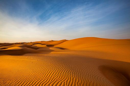 sand dune wave pattern desert landscape, oman 893801294