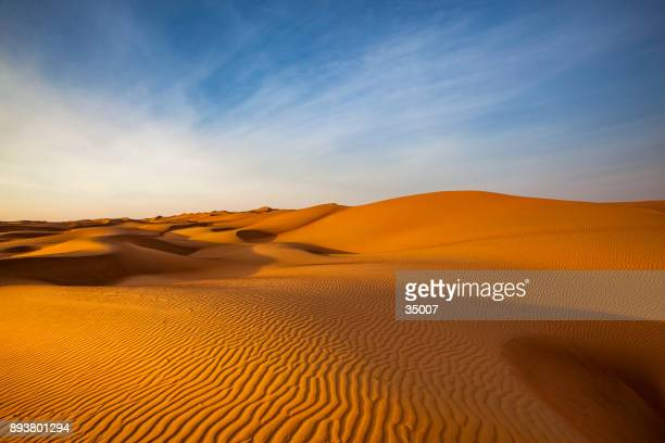sand dune wave pattern desert landscape, oman - desert stock pictures, royalty-free photos & images
